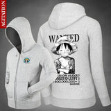Monkey D Luffy Bounty - One Piece Zipper Hoodie - Anime Printed