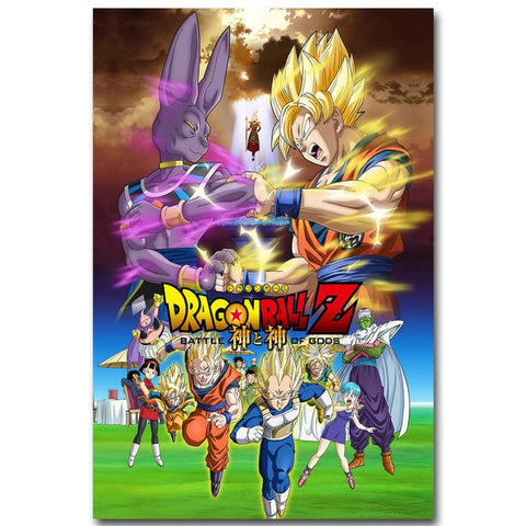 Beerus Saga - Dragon Ball Canvas Printed Wall Poster - Anime Printed