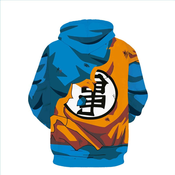 Goku Ripped Classic Uniform - Dragon Ball Hoodie - Anime Printed