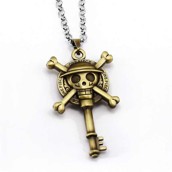 Strawhat Emblem Key - One Piece Necklace - Anime Printed