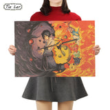 Naruto & Sasuke Final Battle Poster - Anime Printed