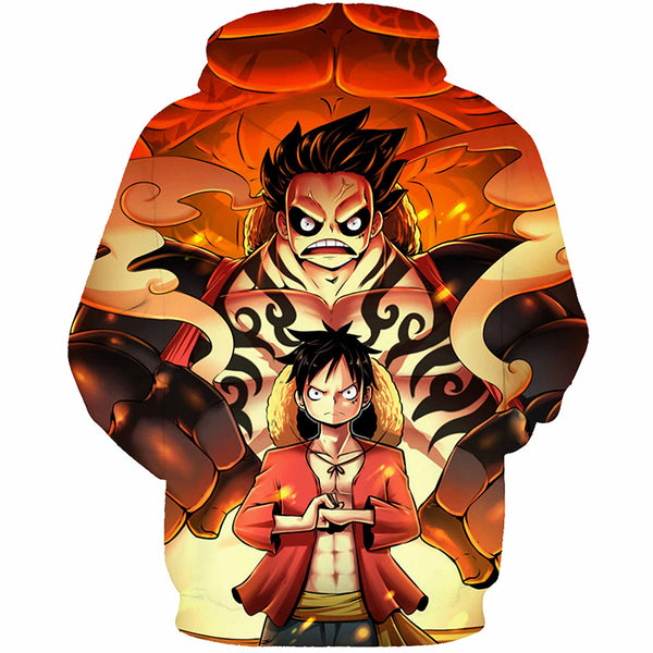 Luffy Gear 4th Bounce Man - One Piece Hoodie - Anime Printed