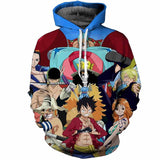 Strawhat Pirates Crew - One Piece Hoodie - Anime Printed