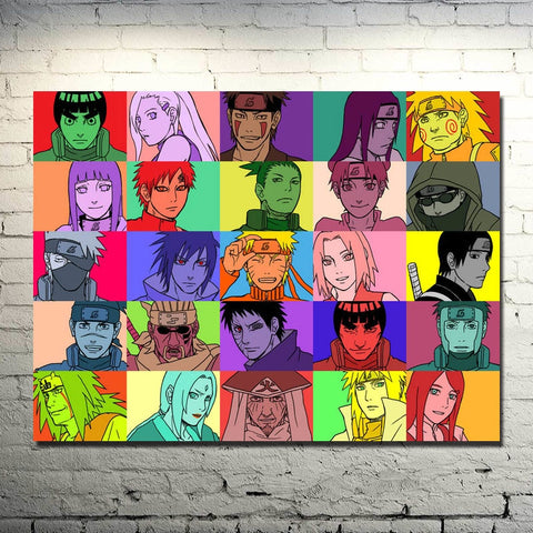 Retro Naruto Family Poster - Anime Printed