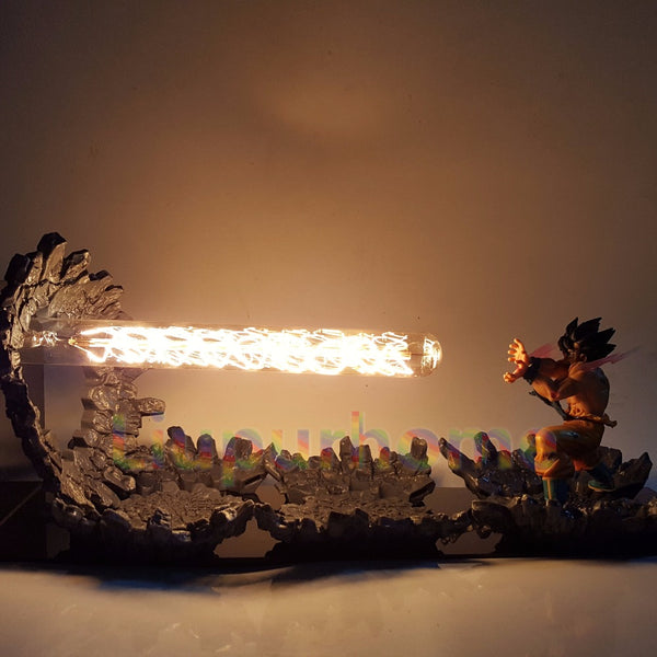 Goku Kamehameha Attack - Dragon Ball LED Lamp - Anime Printed