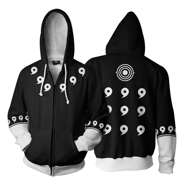 Dark Six Path Sage - Naruto Zipper Hoodie - Anime Printed