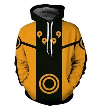 Naruto Kyuubi Mode Simple - Naruto Hoodie - Anime Printed