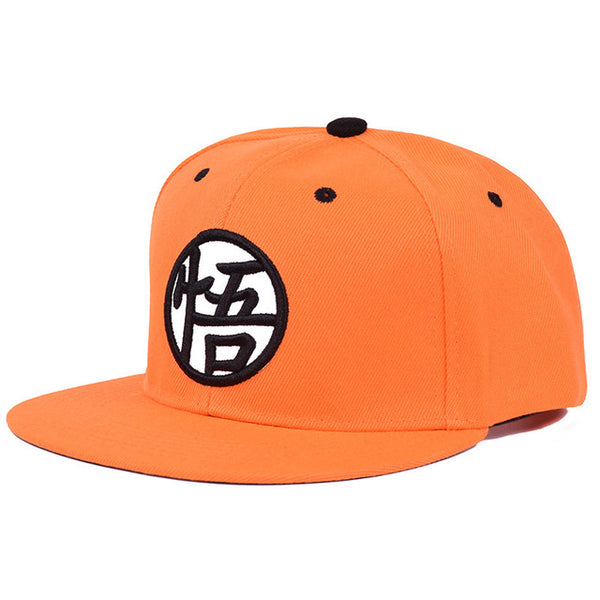 Goku Kanji Orange - Dragon Ball Snapback Cap - Anime Printed
