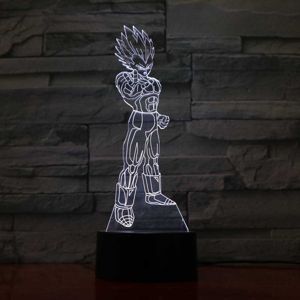 Vegeta Neon Outline - Dragon Ball LED Lamp - Anime Printed