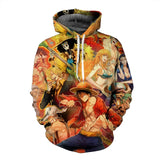 Strawhat Crew Vintage - One Piece Hoodie - Anime Printed