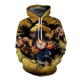 Luffy x Ace - One Piece Hoodie - Anime Printed