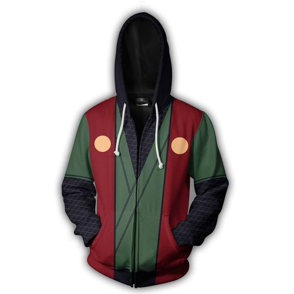 Jiraiya Classic Uniform - Naruto Zipper Hoodie - Anime Printed