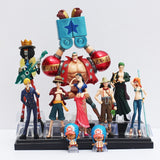 Strawhat Crew 10pc Set - One Piece Action Figure - Anime Printed
