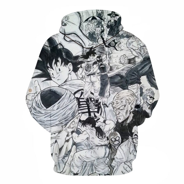 Goku's Journey Manga Stlye - Dragon Ball Hoodie - Anime Printed