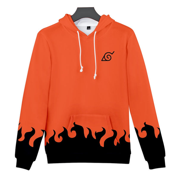 Minato Namikaze 4th Hokage Orange Uniform - Naruto Hoodie - Anime Printed
