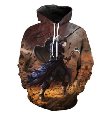 Uchiha Madara Battle - Naruto Hoodie - Anime Printed