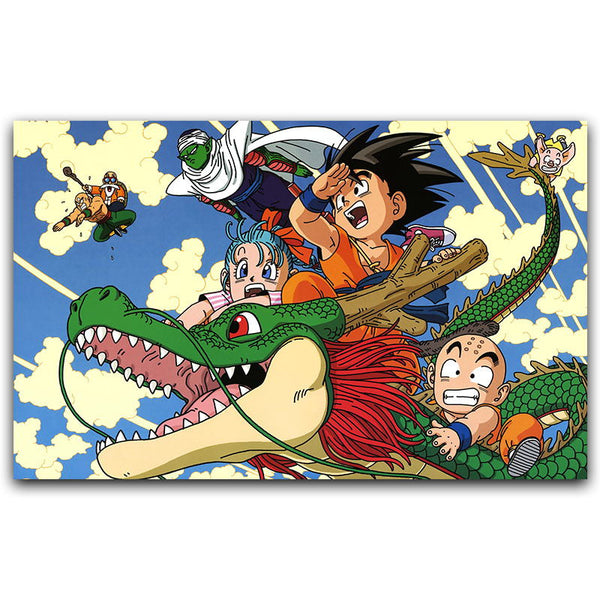 Chibi Goku's World - Dragon Ball Canvas Printed Wall Poster - Anime Printed