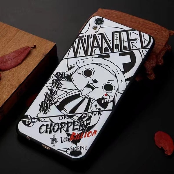 Chopper Wanted Manga Art - One Piece iPhone Case - Anime Printed
