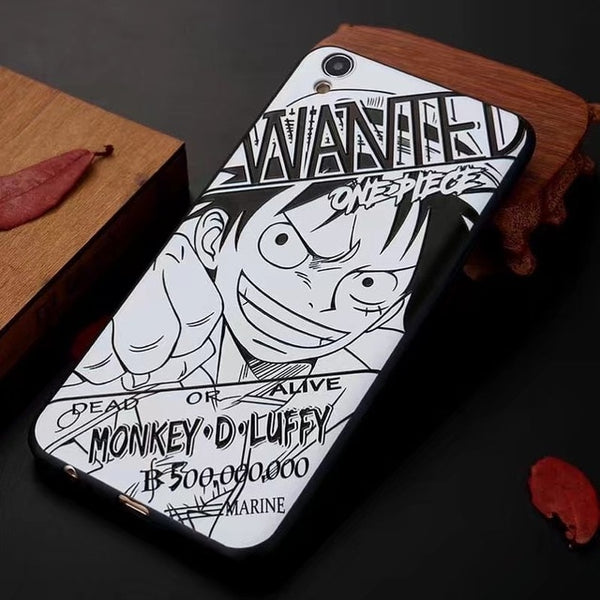 Luffy Wanted Manga Art - One Piece iPhone Case - Anime Printed