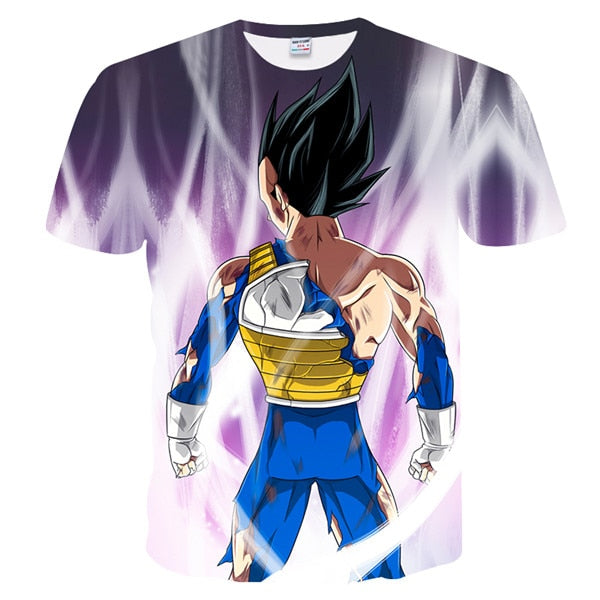Vegito SSJ Blue Battle Torn - Dragon Ball T-Shirt - Anime Printed
