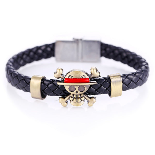 Strawhat Pirate Emblem - One Piece Bracelet - Anime Printed