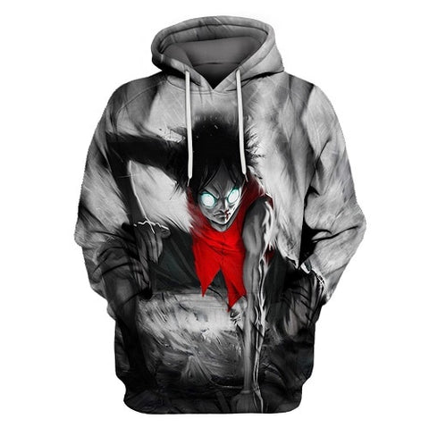 Luffy's Rage - One Piece Hoodie - Anime Printed