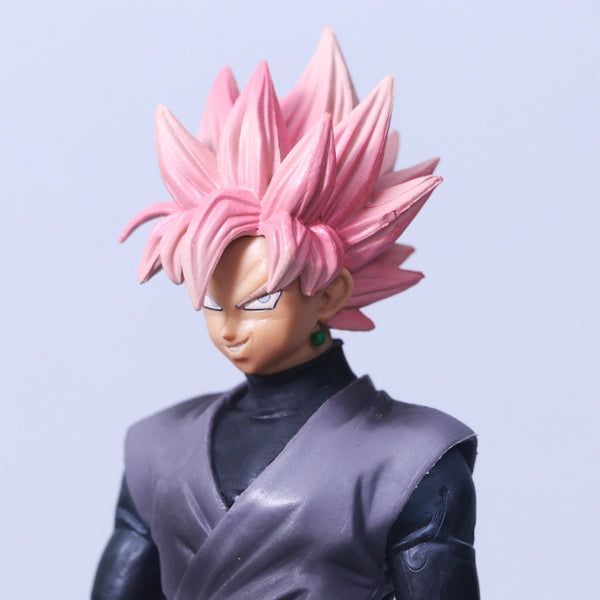 Black Goku Rose SSJ - Dragon Ball Action Figure - Anime Printed