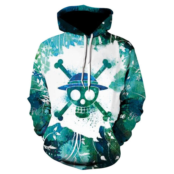 Strawhat Pirates Emblem Splash - One Piece Hoodie - Anime Printed