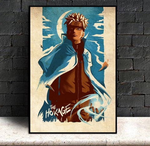 The Hokage - Naruto Canvas Printed Wall Poster - Anime Printed