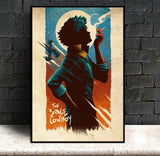 Space Cowboy - Cowboy Bebop Canvas Printed Wall Poster - Anime Printed