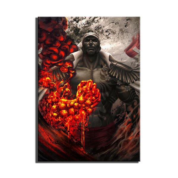 Fire x Ice x Light - Naval Captains 3pc - One Piece Canvas Printed Wall Poster - Anime Printed