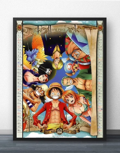 Strawhat Family - One Piece Canvas Printed Wall Poster - Anime Printed