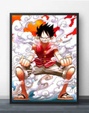 Luffy Steaming - One Piece Canvas Printed Wall Poster - Anime Printed