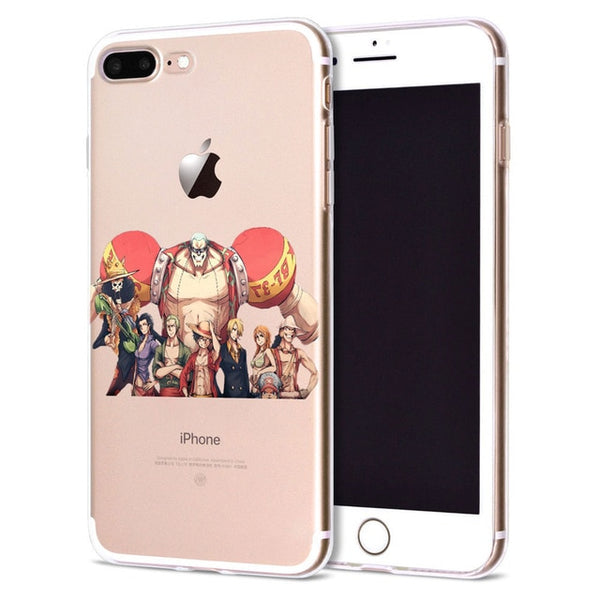 Strawhat Family v2 Clear Back - One Piece iPhone Case - Anime Printed