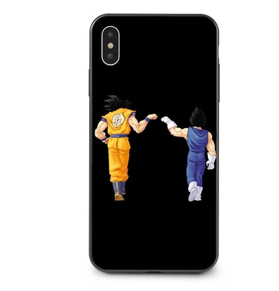 Goku x Vegeta Bros Black - Dragon Ball iPhone Case - Anime Printed