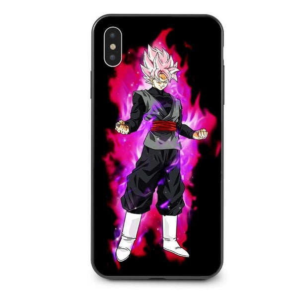 Black Goku Rose SSJ - Dragon Ball iPhone Case - Anime Printed