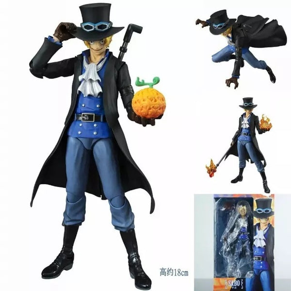 Sabo w/Fire Fruit - One Piece Action Figure - Anime Printed