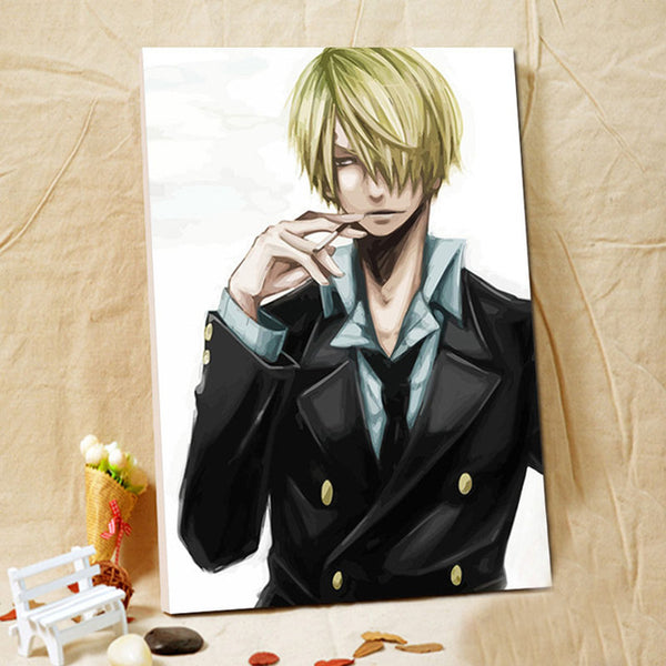 Sanji Portrait - One Piece Canvas Printed Wall Poster - Anime Printed