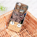 Luffy x Dragon x Garp Nose Picking - One Piece iPhone Case - Anime Printed