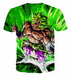 Broly Emerald Rage - Dragon Ball T-Shirt - Anime Printed