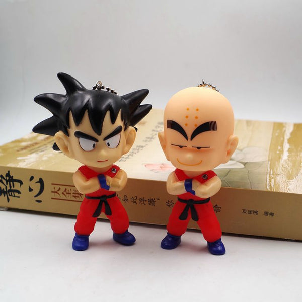 Chibi Goku and Chibi Krillin Essential - Dragon Ball Action Figure - Anime Printed