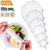 Universal Stretchable Lids (6 Pieces with Different Sizes)