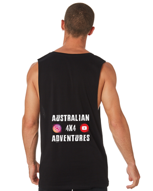 Australian 4x4 Adventures - Tank - Black - Dirty As Clothing