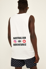 Australian 4x4 Adventures - Tank - White - Dirty As Clothing