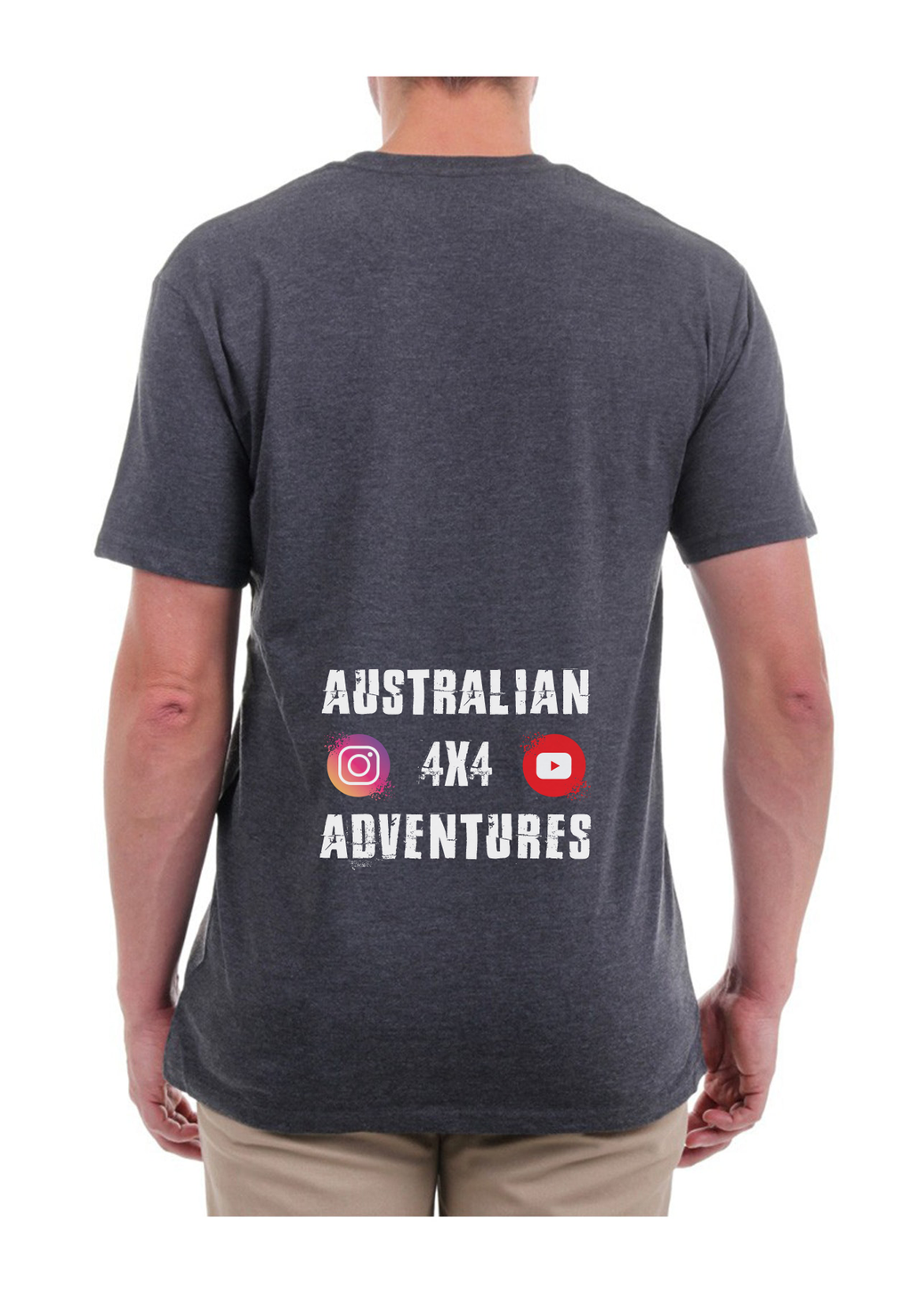 Australian 4x4 Adventures - Tee - Charcoal - Dirty As Clothing
