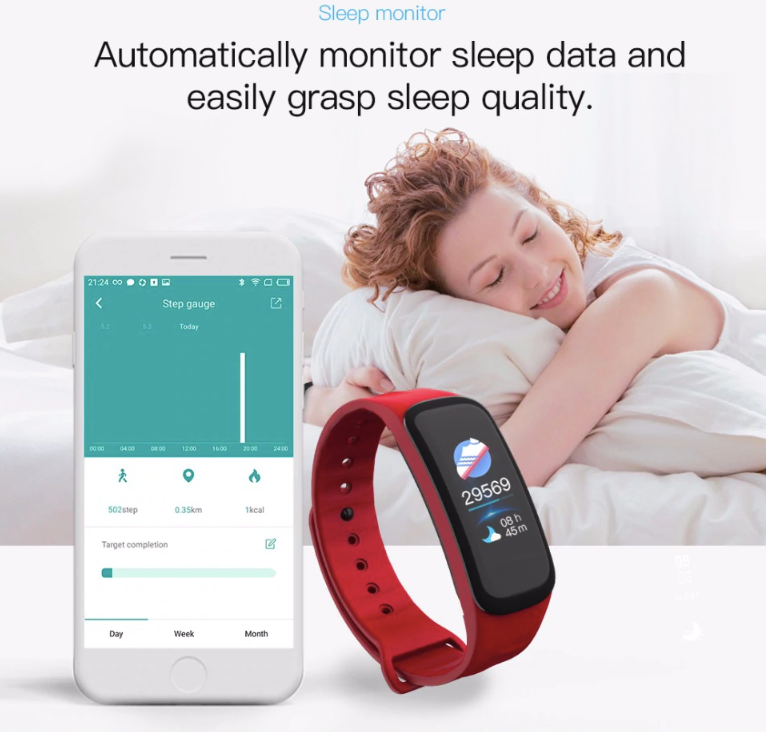 Wearable Smart Watch, Sleep Monitor, Blood Pressure Monitor, Smart Fitness Tracker And Heart Rate Monitor - Super Swag Daddy