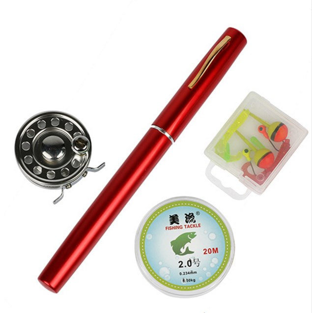 Portable Pocket Mini Fishing Pole Pen With Reel