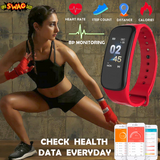 Fitness Tracker - Wearable Waterproof Smart Watch, Sleep Monitor, Blood Pressure Monitor And Heart Rate Monitor
