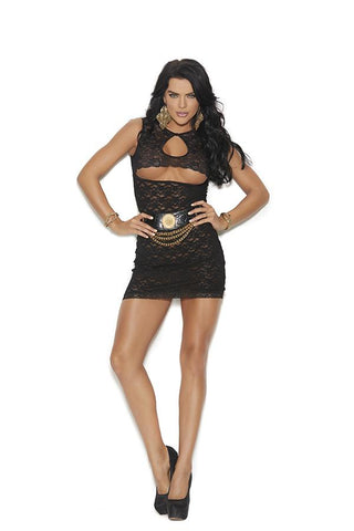 LACE DRESS W/ UNDERBUST CUTOUT
