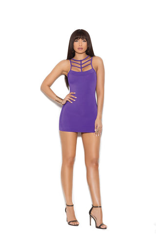 LYCRA CAGED NECK MINI DRESS
